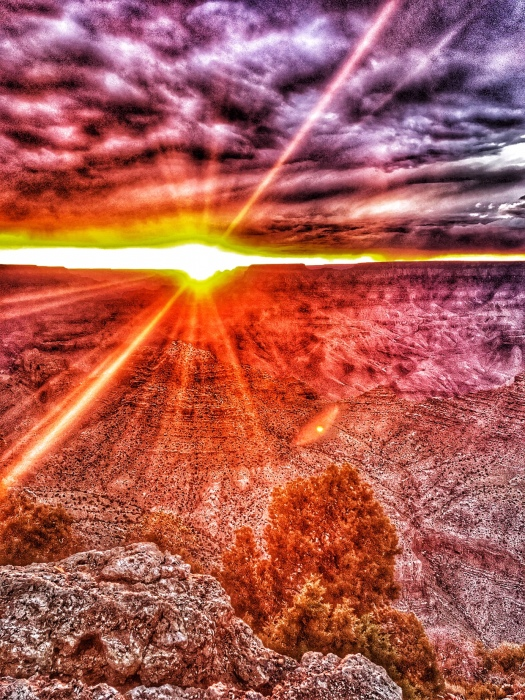 Grand Canyon Sunset at Desert View Watchtower